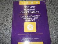 1996 96 CHRYSLER TOWN & COUNTRY MINI VAN Service Shop Repair Manual SUPPLEMENT