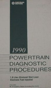 1990 EAGLE TALON PLYMOUTH LASER POWERTRAIN DIAGNOSTIC Manual Diamond Star 90 EFI