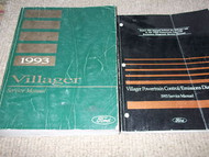1993 FORD MERCURY VILLAGER VAN Service Shop Repair Manual Set W POWERTRAIN BOOK