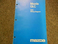 1978 Mazda GLC Electrical Wiring Diagram Service Repair Shop Manual OEM BOOK 78