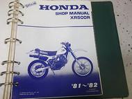 1981 1982 HONDA XR500 XR 500 Service Shop Repair Manual NEW FACTORY DEALERSHIP