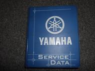 1995-2009 Yamaha ATV SxS Side by Side Service Data Reference Manual OEM