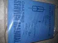 1971 Oldsmobile Cutlass 442 98 Toronado Service Shop Repair Manual FACTORY OEM