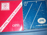 1977 Buick Opel Service Repair Shop Manual SET FACTORY BOOK OEM 77 W BODY