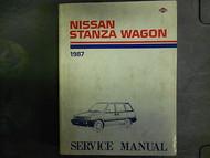 1987 Nissan Stanza Wagon Service Repair Shop Manual FACTORY DEALER OEM BOOK 78
