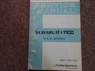 1970 1971 Subaru 1100 Body Service Repair Shop Manual FACTORY OEM BOOK