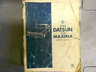 1982 Datsun Nissan 810 Maxima Service Repair Shop Manual Factory OEM 82