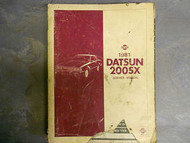 1981 Nissan Datsun 200SX Service Shop Repair Manual OEM Factory 81