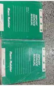 1989 DODGE RAM RAIDER TRUCK Service Repair Shop Manual SET DEALERSHIP