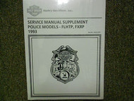 1993 Harley Davidson FLHTP FXRP Service Manual Supplement Factory OEM NEW