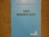 1993 ISUZU RODEO Electrical Service Shop Repair Manual Factory OEM BOOK 93