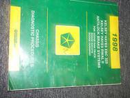 1998 Dodge DURANGO TRUCK CHASSIS DIAGNOSTIC Service Shop Repair Manual 98 OEM