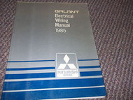 1985 MITSUBISHI Galant Electrical Wiring Service Repair Shop Manual FACTORY OEM