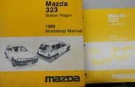 1988 Mazda 323 Station Wagon Service Repair Shop Manual SET FACTORY OEM BOOKS