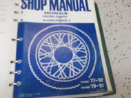 1977 1978 1979 HONDA NA50 NC50 EXPRESS Service Shop Repair Manual OEM BRAND NEW
