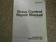 1986 Acura Legend Noise Control Service Repair Shop Manual FACTORY OEM BOOK 86