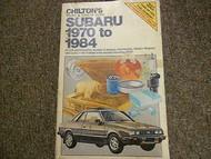1970 1984 Subaru Tune Up Service Repair Shop Manual FACTORY OEM BOOK 71 74 77 80