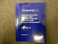2002 Subaru Service Bulletin Service Repair Shop Manual FACTORY OEM BOOK 02