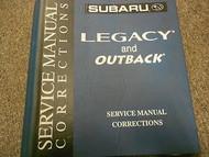 Subaru Legacy Outback Binder Service Repair Shop Binder FACTORY OEM