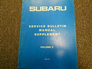1987 Subaru Service Bulletins Service Repair Shop Manual FACTORY OEM BOOK 87