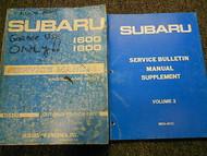 1981 Subaru 1600 Service Repair Shop Manual Supplement SET FACTORY OEM BOOKS 81
