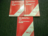 1987 Subaru XT Service Repair Shop Manual SET FACTORY OEM BOOKS 87