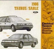 1986 FORD TAURUS ELECTRICAL WIRING DIAGRAMS EWD Service Shop Repair Manual 86