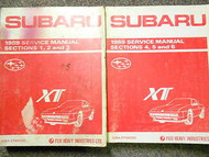1989 Subaru XT Service Repair Shop Manual SET FACTORY OEM BOOKS RARE 89