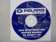 2004 POLARIS SPORTSMAN 6X6 Service Repair Shop Manual CD FACTORY OEM 6 X 6 04