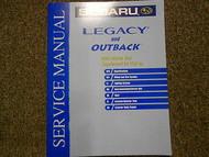2003 Subaru Legacy Outback Pick up Supplement Service Repair Shop Manual OEM 03