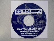 2004 POLARIS TRAILBLAZER 250 Service Repair Shop Manual CD FACTORY OEM 04
