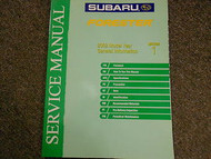 2002 Subaru Forester General Information Section Service Repair Shop Manual OEM