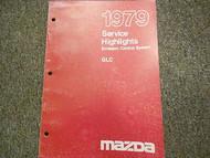 1979 Mazda GLC Service Highlights Emission Control Manual OEM FACTORY BOOK RARE