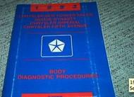 1993 CHRYSLER FIFTH AVENUE 5TH AV BODY DIAGNOSTIC PROCEDURE Service Shop Manual