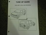1989 Mazda MPV Van Tune Up Guide Service Repair Shop Manual FACTORY OEM 89