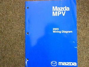 2005 Mazda MPV Van Electrical Wiring Diagram Service ...