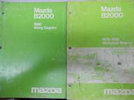 1980 Mazda B2000 Truck Service Repair Shop Manual SET FACTORY OEM BOOKS 80