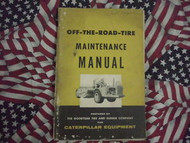 Caterpillar Off The Road Tire Maintenance Manual