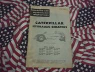 Caterpillar Hydraulic Scraper Operation Manual