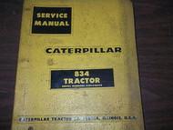 Caterpillar 834 Tractor Service Repair Shop Manual BINDER CAT 8 3 4 Tractor 834