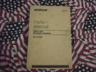 Caterpillar 183 193 Hydraulic Control Part Book 1978