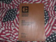 Caterpillar 183 Hydraulic Control Part Book 59P 60P