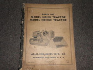 Allis Chalmers HD11G HD11GC Tractor Parts Catalog