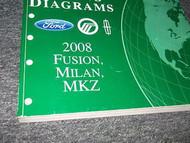 2008 FORD Fusion Mercury Milan Lincoln MKZ Wiring Diagram Shop Manual EWD