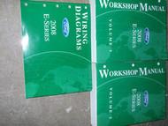 2008 Ford Econoline E-Series Van Service Shop Repair Manual Set OEM 08 FACTORY
