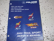 2002 TRAIL SPORT INDY 340 400 PRO X INDY 500 ATV Shop Repair Service Manual 2002