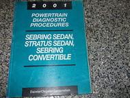 2001 CHRYSLER SEBRING & STRATUS CHASSIS Diagnostic Procedures Service Manual OEM