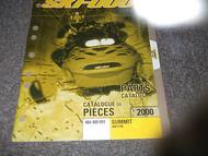 2000 Ski Doo ski-doo SNOWMOBILE SUMMIT 800 HM H.M H M PARTS CATALOG Manual OEM