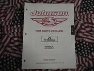 1999 Johnson 25 TE Parts Catalog
