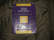 1996 Chrysler Town & Country Service Shop Manual BODY DIAGNOSTICS PROCEDURES